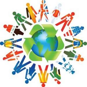 Люди и земной шар