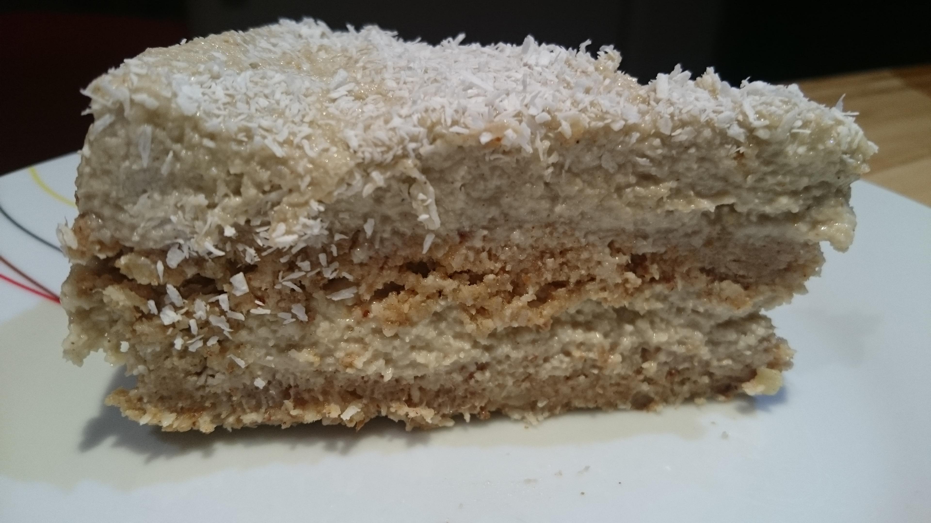 Кокосовый сыроедный тортик
