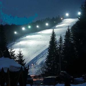ночь лыжи