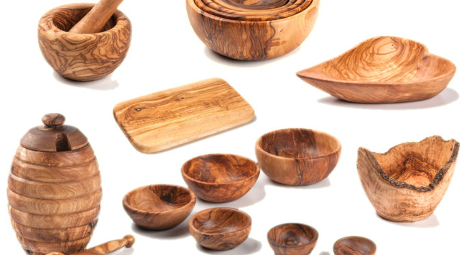 Посуда из оливы