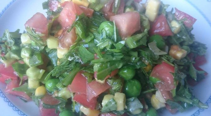 Руккола, авокадо, зеленый горошек — весеннее настроение