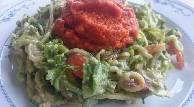 Сыроедная итальянская паста